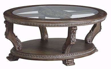 Charmond Brown Oval Cocktail Table