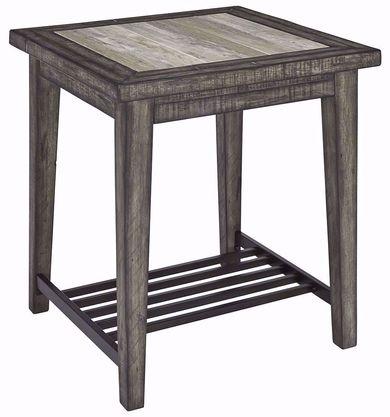 Mavenry Grey Square End Table