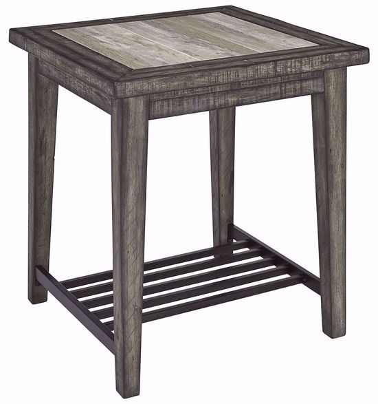 Picture of Mavenry Grey Square End Table