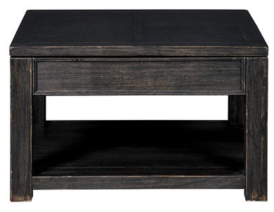 Gavelston Black Rectangular Lift Cocktail Table
