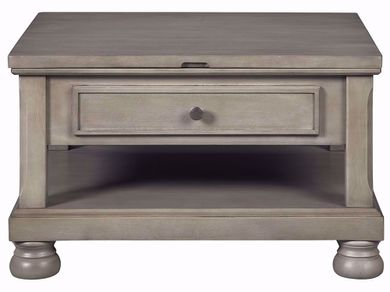 Lettner Grey Rectangular Lift Cocktail Table