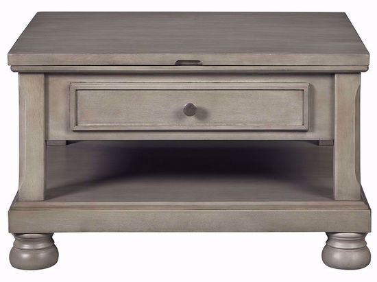 Picture of Lettner Grey Rectangular Lift Cocktail Table