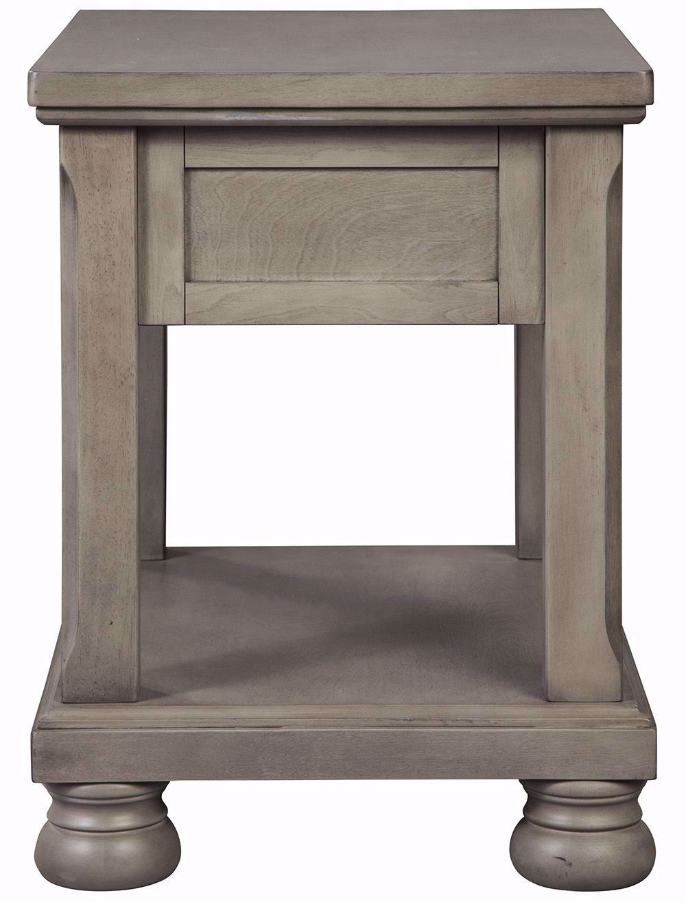 Picture of Lettner Grey Rectangular End Table