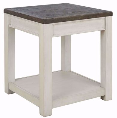 Bolanburg Brown and White Square End Table
