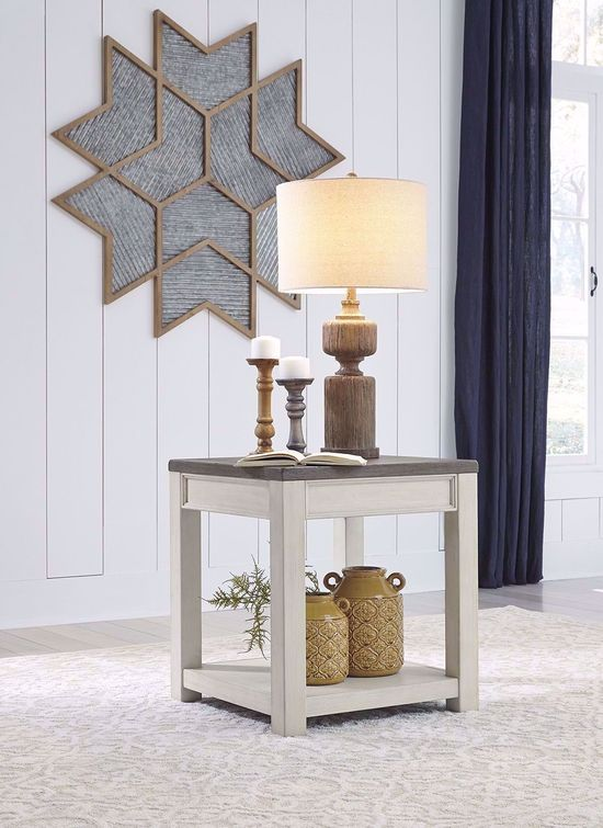 Picture of Bolanburg Brown and White Square End Table