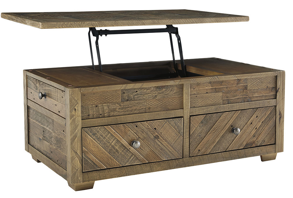 Picture of Grindleburg Grey and Brown Lift Cocktail Table