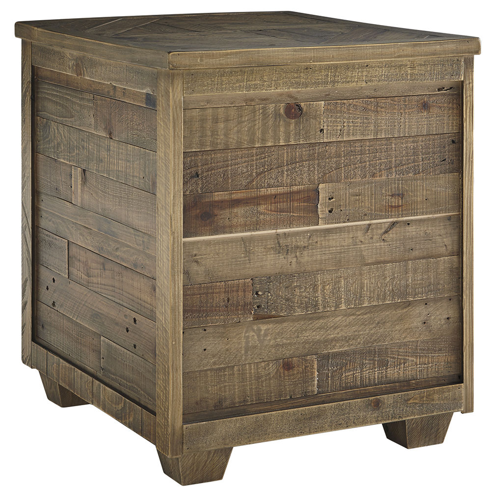 Picture of Grindleburg Grey and Brown End Table