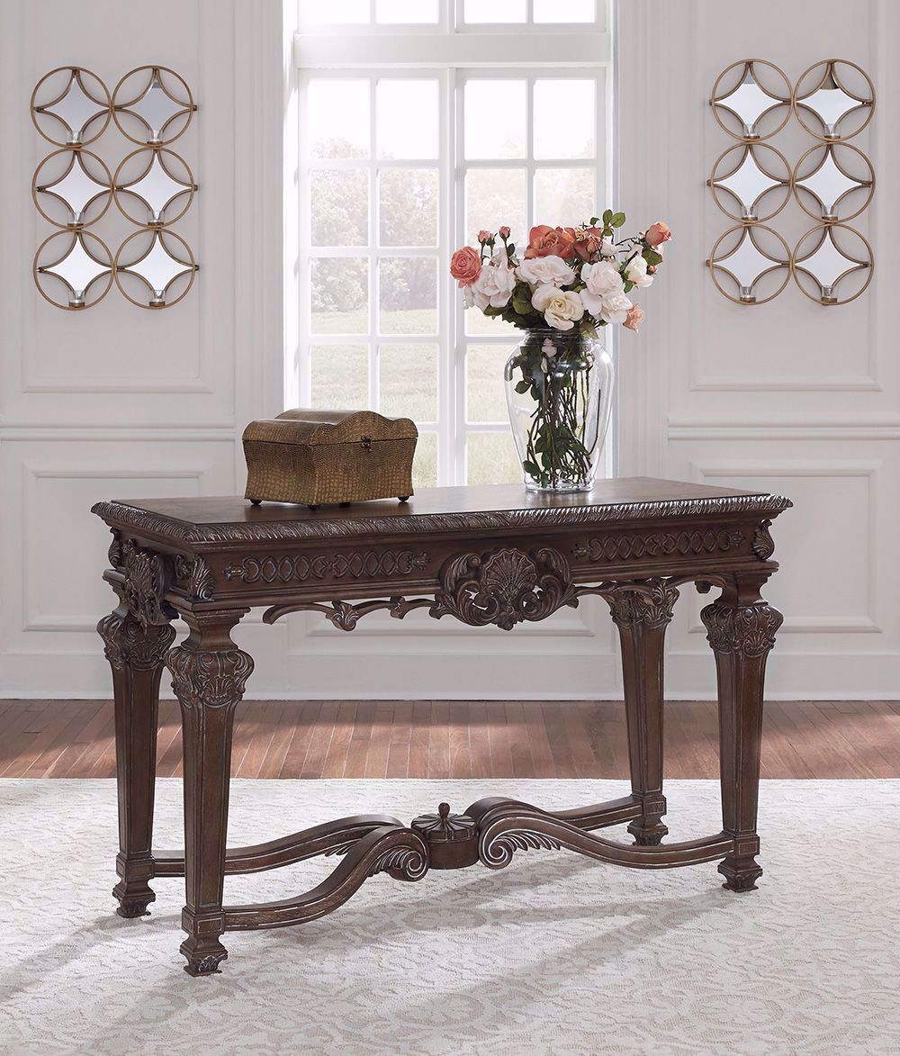 Picture of Charmond Brown Rectangular Sofa Table