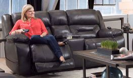 Enterprise Triple Power Reclining Console Loveseat