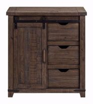Madison 32 Inch Barnwood Accent Cabinet