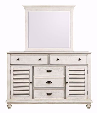 Lakeport Driftwood Dresser and Mirror
