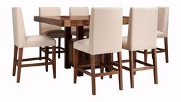 Cruz Counter Table with Six Stools