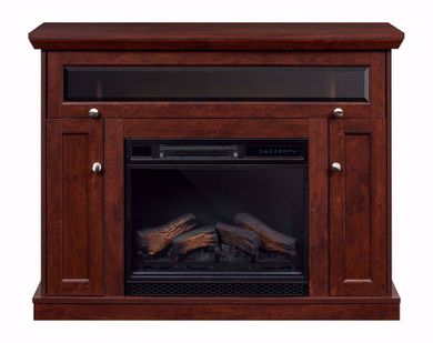 Windsor 23 Inch Cherry Entertainment Mantel with Fireplace Insert