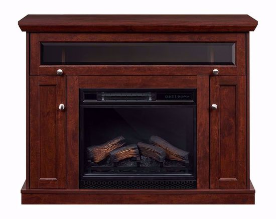 Picture of Windsor 23 Inch Cherry Entertainment Mantel with Fireplace Insert
