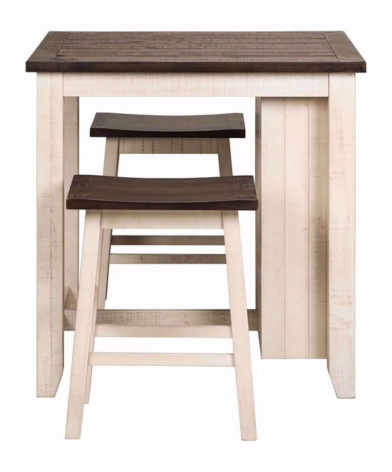 Picture of Madison County White Three Piece Counter Set