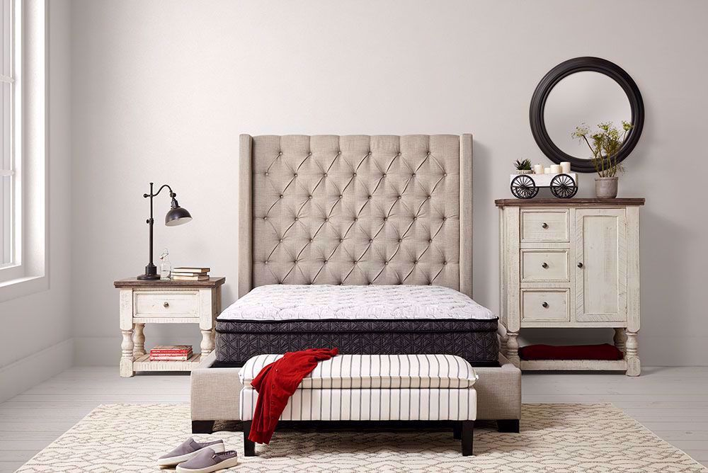 Picture of Restonic Cuddle Euro Top Twin Mattress Set