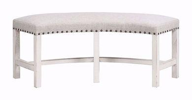 Condesa White Round Bench