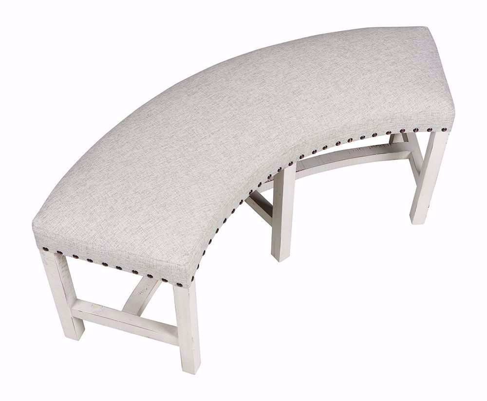 Picture of Condesa White Round Bench