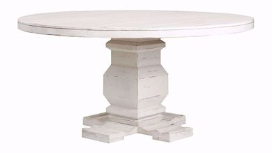 Condesa White Round Dining Table