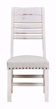 Condesa White Wood Back Side Chair