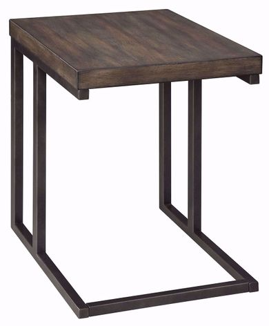 Johurst Black and Gray Chairside Table