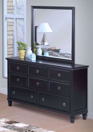 Tamarack Black Dresser and Mirror