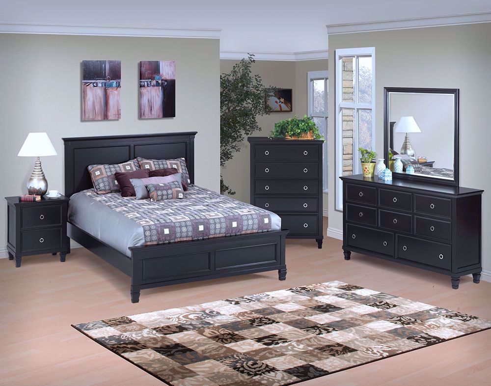 Tamarack Black Queen Bedroom Set The Furniture Mart
