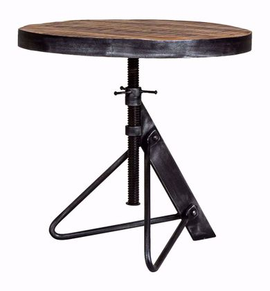 Adjustable Round Accent Table Only