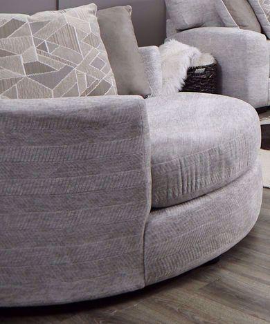 Zaftig Parchment Swivel Pod Chair