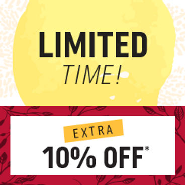 Limited Time! Extra 10% off*