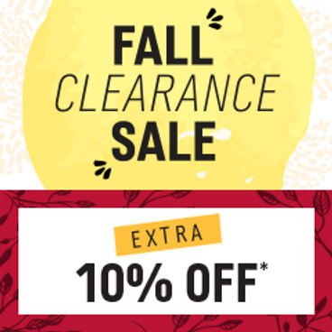 Fall Clearance Sale|  Extra 10% off*