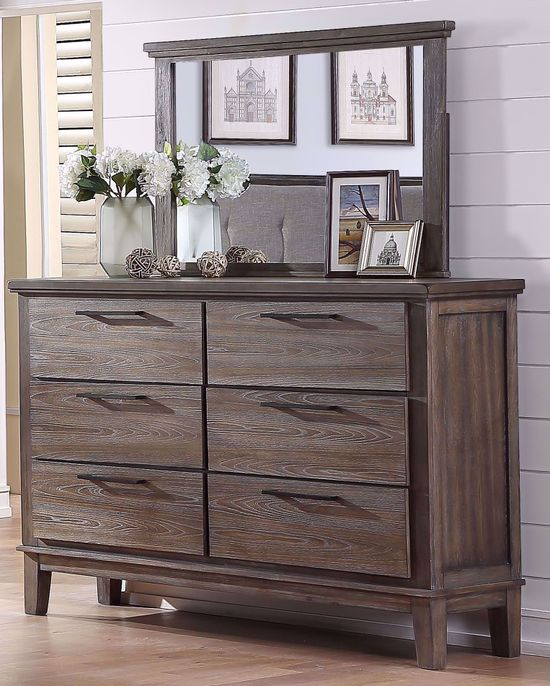 Picture of Cagney Gray Dresser and Mirror