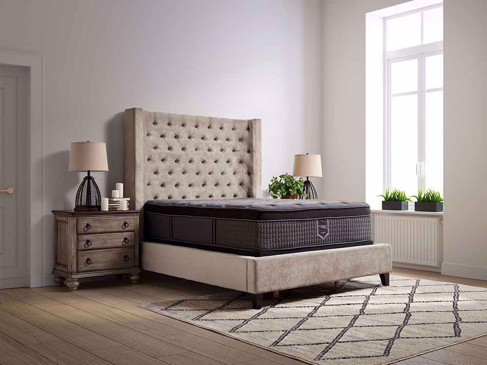 Picture of Restonic Flourish Eurotop Twin Mattress Set