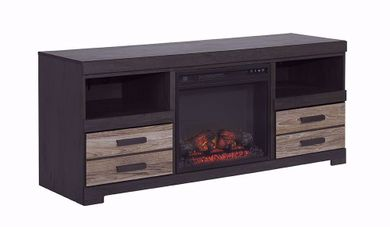 Harlinton TV Stand with Fireplace Insert