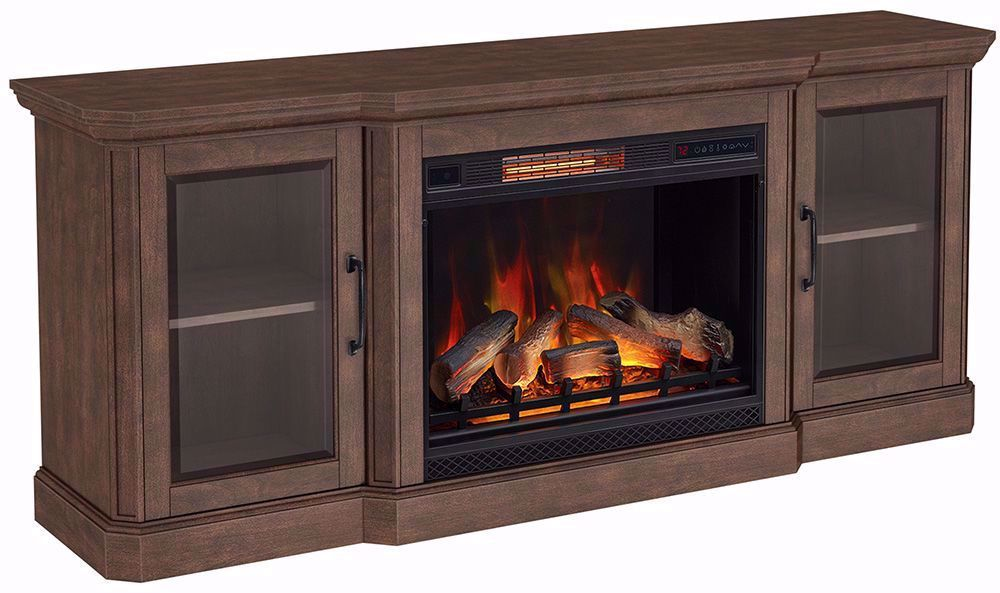 Picture of 75 Inch Hershel Console with 28 Inch Fireplace Insert