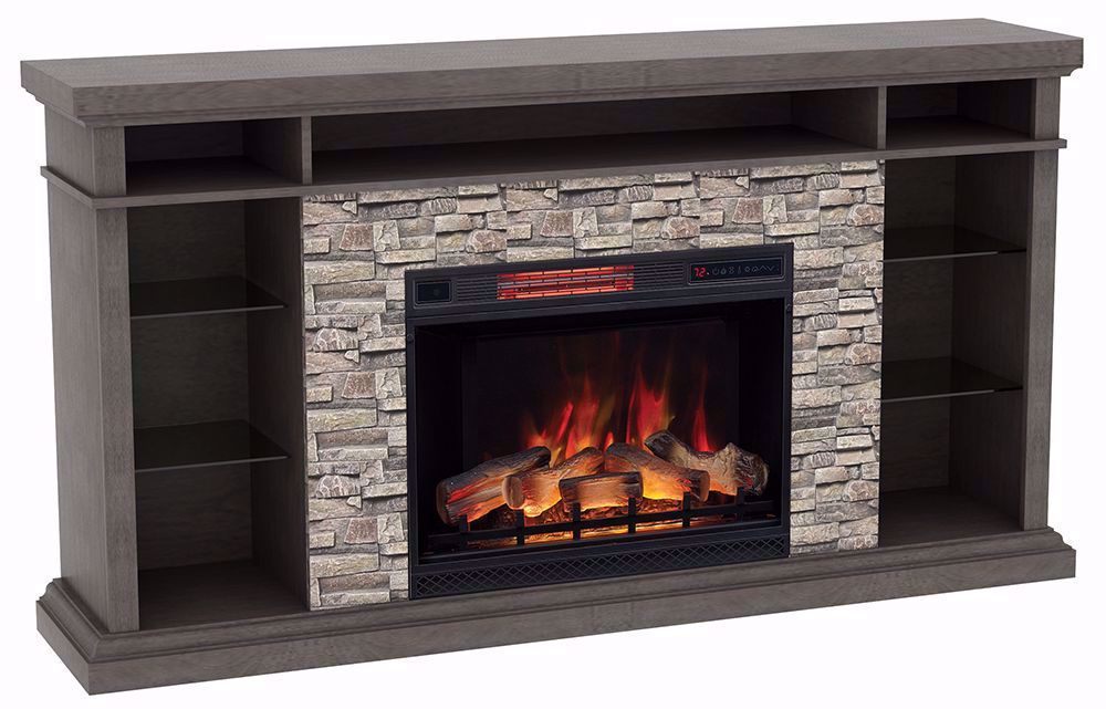 Picture of 73 Inch Ellistone Console with 28 Inch Fireplace Insert