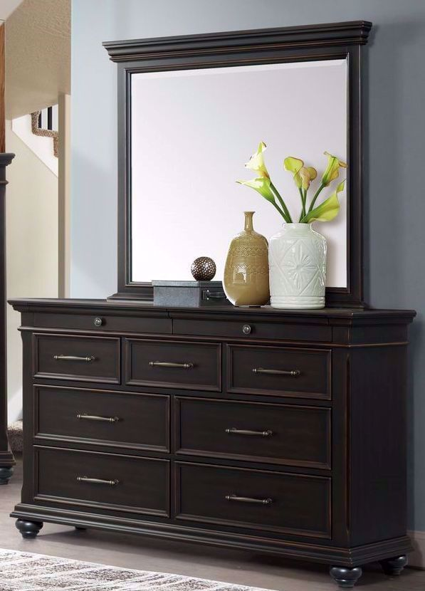 Picture of Slater Black Dresser and Mirror