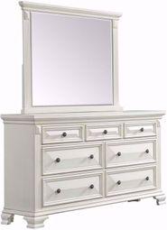 Calloway White Dresser and Mirror Set