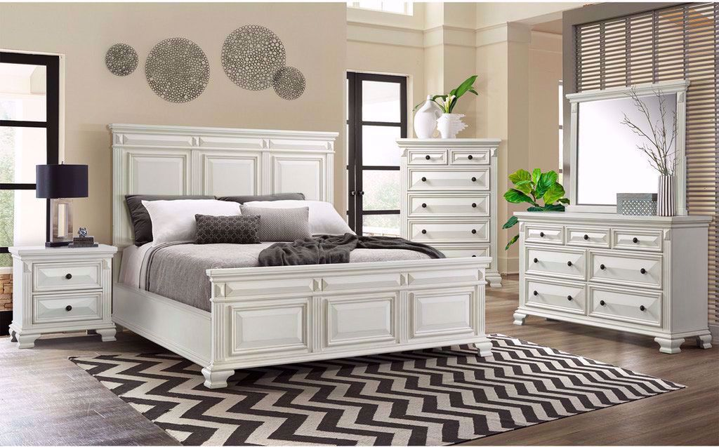 Picture of Calloway White King Bed Set