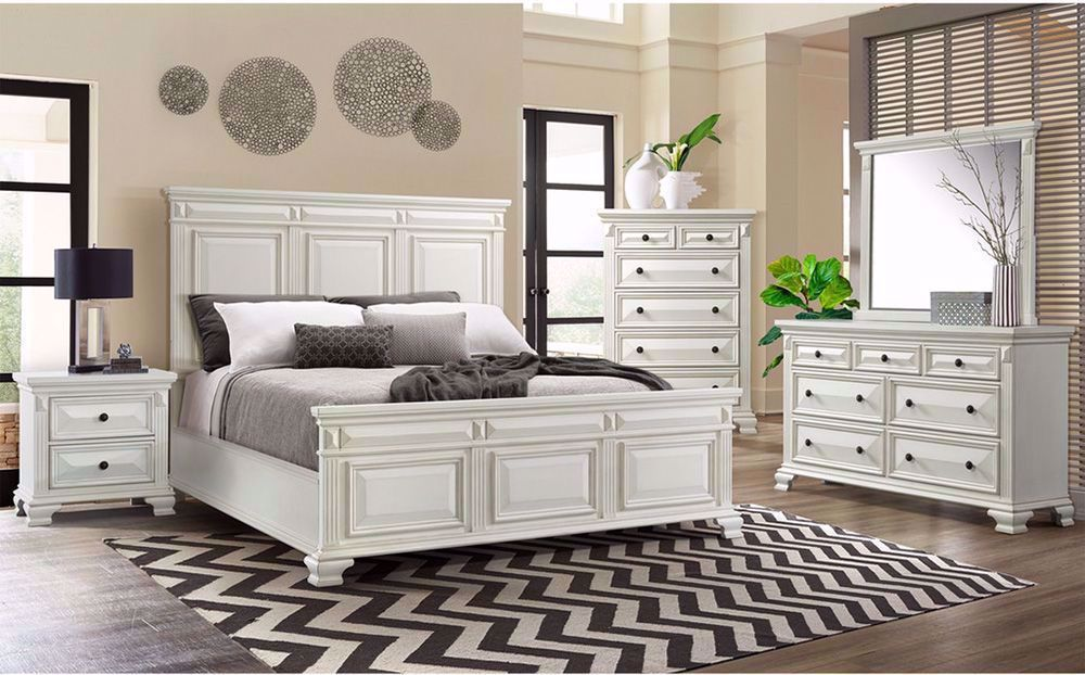 Calloway White Queen Bedroom Set The Furniture Mart