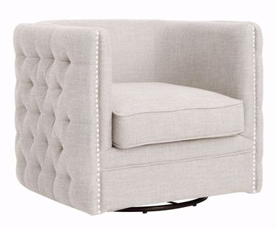 Wendau Linen Swivel Chair