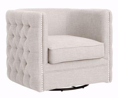 Wendau Linen Swivel Chair