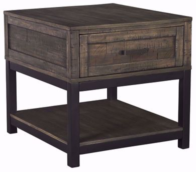 Johurst Grey and Brown Rectangular End Table