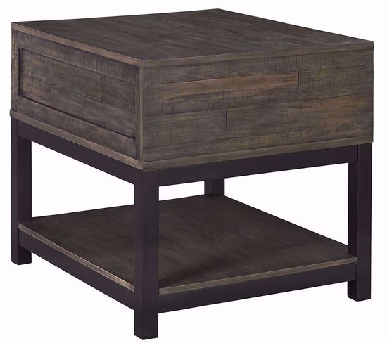 Picture of Johurst Grey and Brown Rectangular End Table