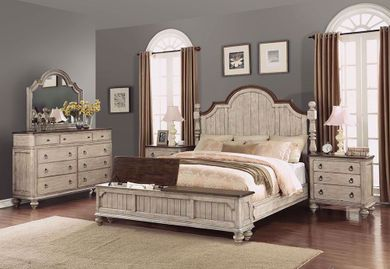 Plymouth King Storage Footboard Bedroom Set