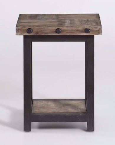 Carpenter Driftwood Chairside Table