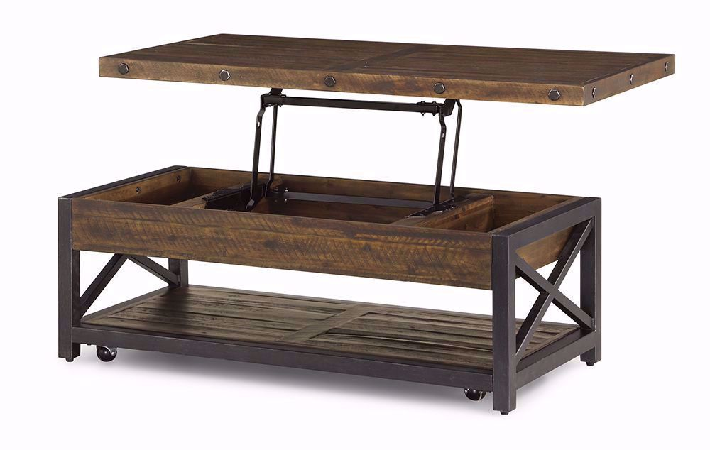 Picture of Carpenter Lift Top Cocktail Table with Casters