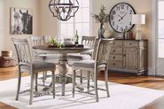 Plymouth Gray Counter Table and Four Stools