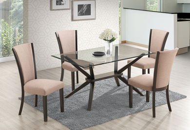 Ming Cappuccino Table and Four Chairs