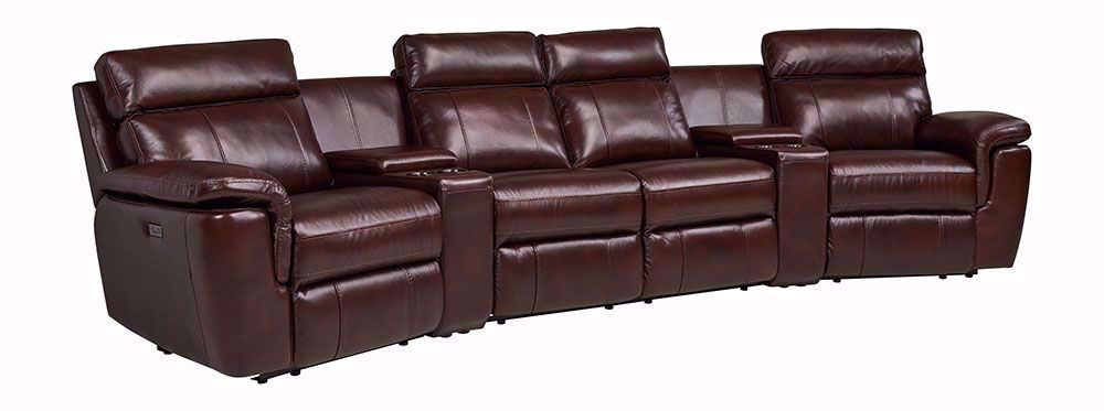 Picture of Abby Mahogany Six Piece Theater Sectional